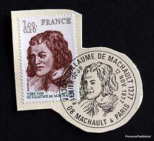 France stamp obl. 1 ° day yt 1955 Guillaume de machault