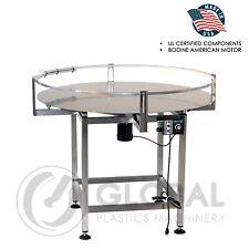 "Globaltek Stainless Steel  36"" Dia.  Accumulating Rotary Table"