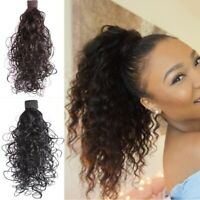Long Curly Clip In Hair Tail False Ponytail Hairpiece Synthetic Wavy Extension