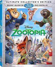 Disney Pixar Zootopia 3d Blu Ray Disc Movie DVD