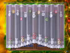 "Christmas Net Curtain White 300cm*160cm 118""x63"""