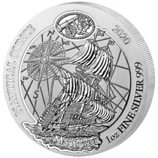 Ruanda Nautical Ounce Mayflower 2020 1 oz 50 Francs 999 Silbermünze Schiff