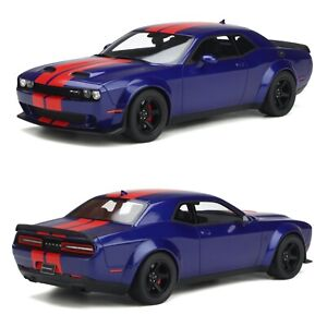 1/18 GT Spirit Dodge Challenger Super Stock 2021 Indigo Blue Livraison septembre