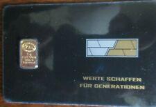 1g Goldbarren NADIR im Blister mit Zertifikat