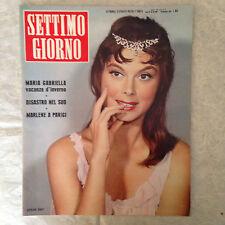 RIVISTA SETTIMO GIORNO 50 12/1959 DORIAN GRAY MARIA GABRIELLA MARLENE DIETRICH