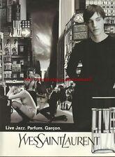 Yves Saint Laurent Live Jazz Fragrance 1996 Mag. Advert #3717