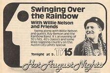 1981 TV AD~WILLIE NELSON AUSTIN CITY LIMITS MUSIC SPECIAL~RAINBOW BAND