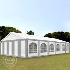 Partyzelt Pavillon 6x12m Bierzelt Festzelt Gartenzelt Vereinszelt Zelt grau-weiß