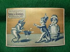 Brownings Clothing Anthropomorphic Frog in Suit Hat Boy & Girl Giving Money Z3