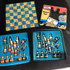 The Simpsons Chess Set 3-D Characters Tin Metal Box 1998