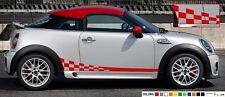 Sticker Stripe for mini Roaster john cooper works checkered graphics side 2015