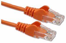 FAST ETHERNET LEAD Cat 5 RJ45 LAN PATCH Network Cable cat5e Orange 25cm