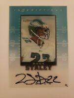 1999 Score Inscriptions Duce Staley Autographed Card #DS-22 EAGLES