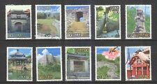 JAPAN 2002 WORLD HERITAGE 2ND SERIES 10TH ISSUE (OKINAWA) SET OF 10 STAMPS USED