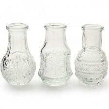 12 x kleine Vasen Vintage Glas H 8 cm Glasvasen Väschen Tischvasen Blumenvasen