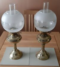 More details for duplex oil lamps, pair, used