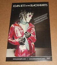 Joan Jett & The Blackhearts Unvarnished  2014 Original Poster 11x17