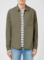 TOPMAN Khaki Zip Front Overshirt Jacket | SALE | Was £35