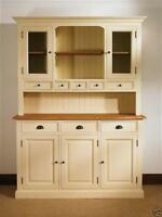 Devon Painted Pine Furniture Flour Dresser Cabinet Unit Glass Doors