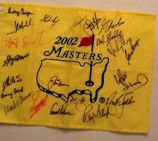 2002 Masters Flag Signed By 21 Champions Palmer, Nicklaus And Player