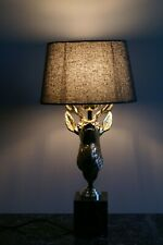 """Luminaire """"cerf"""", création, Napoleon III, design, cabinet de curiosité"""