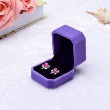 Charm Velvet Engagement Wedding Earring Ring Pendant Jewelry Display Box Gift