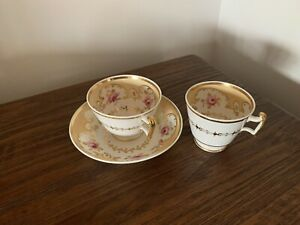 Early 19th century English bone china trio