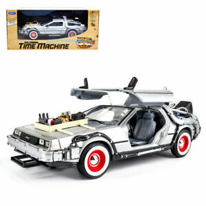1:24 Back To The Future III Delorean Time Machine Diecast by Welly