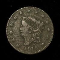 1818 CORONET HEAD 1C LARGE CENT ** VF+ Dets, EARLY AMERICAN COPPER Lot#X266
