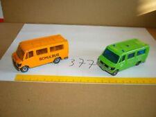 Konvolut Nr. 377 SIKU Mercedes 208, Schulbus + Polizei
