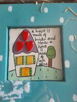 "7.5"" ART TILE Silvestri WALL Plaque Sandra Magsamen HOME LOVE THEME"