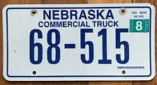 NEBRASKA COMMERCIAL TRUCK - USA Flat Number License plate # 68-515 American