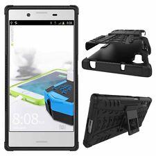 Hybrid Case 2teilig Outdoor Schwarz Tasche Hülle für Sony Xperia XZ und XZS Etui