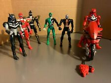 MIGHTY MORPHIN POWER RANGERS, Lot of 5 Power Rangers, Motorcycle, & Krybot