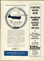 1954 PAPER AD Saunders Swadar Toy Company Bell Aircraft Tandem Rotor Helicopter