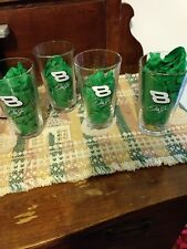 4 DALE JR NUMBER 8 COLLECTIBLE BUDWEISER NASCAR RACING  BEER DRINKING GLASS