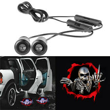 2pcs Skull Car Door 3D LED Welcome Lights Projector Logo Ghost Shadow Lamp