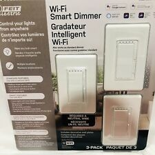 FEIT ELECTRIC 3-PACK WI-FI SMART DIMMER ALEXA SIRI GOOGLE COMPATIBLE NEW SEALED