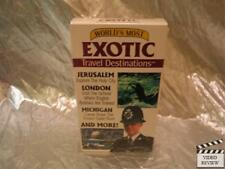 World's Most Exotic Travel Destinations Jeruslaem Lodon Michigan VHS NEW Sealed