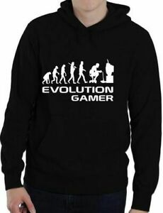 Evolution Of A Gamer PC Geek Funny Unisex Hoodie Hoody  Size S-XXL