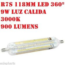 Bombilla Lineal R7s Led 9w 118mm Luz Calida 3000k, 360º 900 Lumen Bajo Consumo