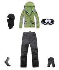 Women Ski Snowboard Jacket+Pants+Gloves+Goggles+Balaclava+Socks 6 8 10 12 14