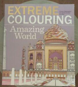 Extreme Colouring Amazing World Adult Colouring Book Like New Free Postage