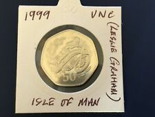 More details for isle of man. 1999  50p coin. unc.   tt races.  leslie graham.