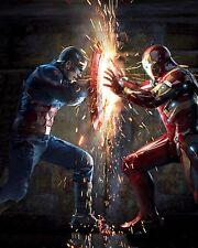 "(2016) Captain America 3: Civil War Movie Silk Fabric Poster 19""x24"" Iron Man"