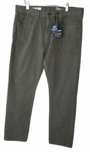 GAP  Men's Pants jeans 34x30 Slim Twill Garment Dyed Nwt 5 Pocket Style green