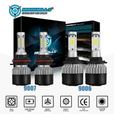 Combo 9007+ 9006 LED Headlight Kits High Low Beam Fog Lamp 3600W 540000LM 6000K
