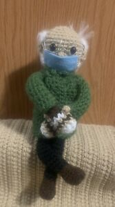 Bernie's Mittens Meme Handcrafted Crochet Collectible Doll