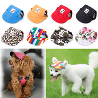 Hunde Mütze Hundekappe Hundehut Baseball Cap Sommer für Haustier Hund Katze S-M