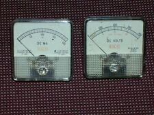 "VINTAGE ""EICO"" PANEL METERS DC VOLTS, AND DC MA."